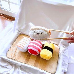 4 mini sushi plushie set
